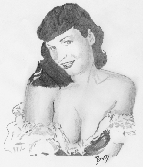 Bettie Page by bigbudmeg
